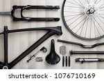 photo of bicycle objects on... | Shutterstock . vector #1076710169