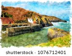watercolour painting of the... | Shutterstock . vector #1076712401