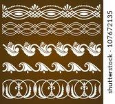 vector set of vintage... | Shutterstock .eps vector #107672135