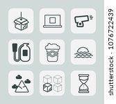 premium set of outline icons.... | Shutterstock .eps vector #1076722439