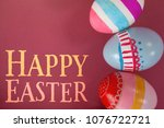 easter greeting against various ... | Shutterstock . vector #1076722721