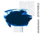 blue brush stroke and texture.... | Shutterstock .eps vector #1076740811