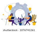 vector illustration internet... | Shutterstock .eps vector #1076741261