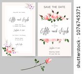 save the date card  wedding... | Shutterstock .eps vector #1076745371