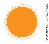 sun icon. halftone orange... | Shutterstock . vector #1076747681