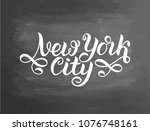greetings from new york city ...   Shutterstock .eps vector #1076748161