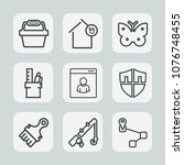 premium set of outline icons.... | Shutterstock .eps vector #1076748455