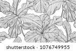 floral seamless pattern  black... | Shutterstock .eps vector #1076749955