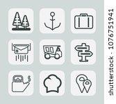 premium set of outline icons....   Shutterstock .eps vector #1076751941