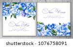 set of templates for greetings... | Shutterstock . vector #1076758091