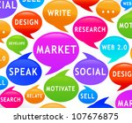 colorful social   marketing  ... | Shutterstock .eps vector #107676875
