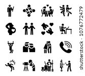 set of 16 people filled icons... | Shutterstock .eps vector #1076772479