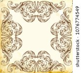 retro baroque decorations... | Shutterstock .eps vector #1076774549