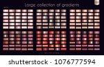 copper bronze red gradients... | Shutterstock .eps vector #1076777594