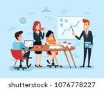 office teamwork or business... | Shutterstock .eps vector #1076778227