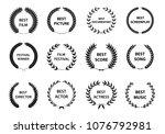 film awards wreaths set. film... | Shutterstock .eps vector #1076792981