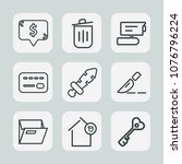 premium set of outline icons....   Shutterstock .eps vector #1076796224