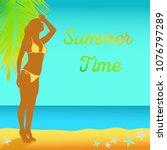 vector illustration for summer...   Shutterstock .eps vector #1076797289