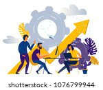 vector illustration a group of... | Shutterstock .eps vector #1076799944
