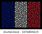 french flag mosaic organized of ... | Shutterstock .eps vector #1076804615