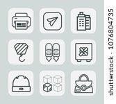 premium set of outline icons.... | Shutterstock .eps vector #1076804735