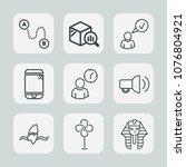 premium set of outline icons....   Shutterstock .eps vector #1076804921