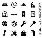 solid vector icon set   taxi... | Shutterstock .eps vector #1076806487