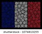france national flag collage... | Shutterstock .eps vector #1076813255