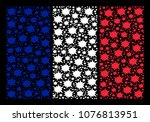 france flag collage done of... | Shutterstock .eps vector #1076813951