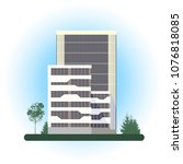 skyscrapers buildings   color... | Shutterstock .eps vector #1076818085
