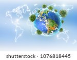ecological concept of the...   Shutterstock . vector #1076818445