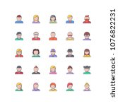 people filled outline icons 25 | Shutterstock .eps vector #1076822231
