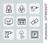 Premium Set Of Outline Icons....