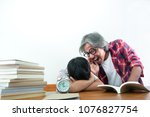 children sleep during class ... | Shutterstock . vector #1076827754