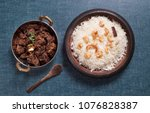 spicy and delicious beef roast... | Shutterstock . vector #1076828387