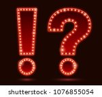 light bulbs vintage neon glow...   Shutterstock .eps vector #1076855054