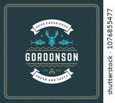 seafood restaurant logo vector... | Shutterstock .eps vector #1076855477