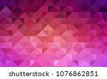 light pink  yellow vector low... | Shutterstock .eps vector #1076862851