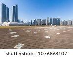 empty floor with modern...   Shutterstock . vector #1076868107