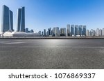 empty road with modern business ... | Shutterstock . vector #1076869337