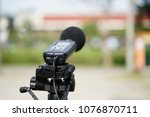 measuring the noise on the road ... | Shutterstock . vector #1076870711