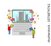 real estate business concept...   Shutterstock .eps vector #1076874761