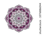 mandala. round ornament floral... | Shutterstock .eps vector #1076886044