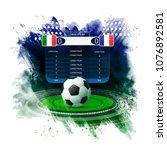 soccer football stadium... | Shutterstock .eps vector #1076892581