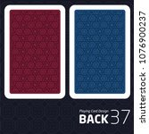 card back abstract pattern... | Shutterstock .eps vector #1076900237