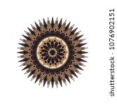 mandala. round ornament floral... | Shutterstock .eps vector #1076902151