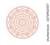 mandala. round ornament floral... | Shutterstock .eps vector #1076902457