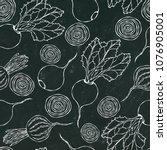 black chalk board. seamless... | Shutterstock .eps vector #1076905001