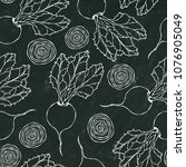 black chalk board. seamless... | Shutterstock .eps vector #1076905049