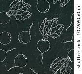 black chalk board. seamless... | Shutterstock .eps vector #1076905055
